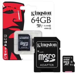 Kingston 64GB microSD with Adapter