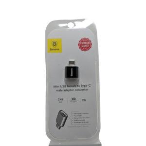 Baseus Mini USB Female to Type-C Male Adapter Converter